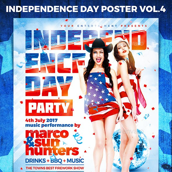 Independence Day Party Poster vol.4