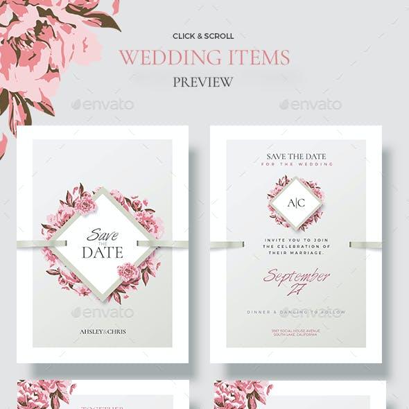 Creative Wedding - Floral Invitations