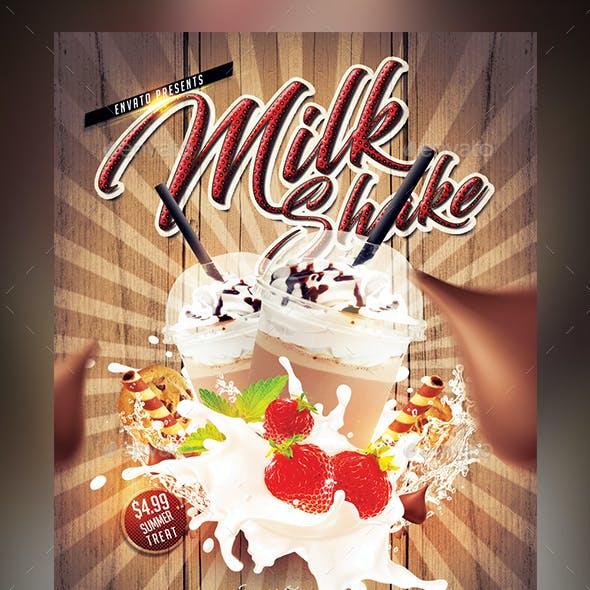 Milk Shake Flyer Template