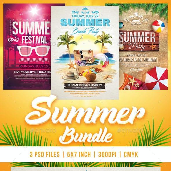 Summer Bundle Flyers Template