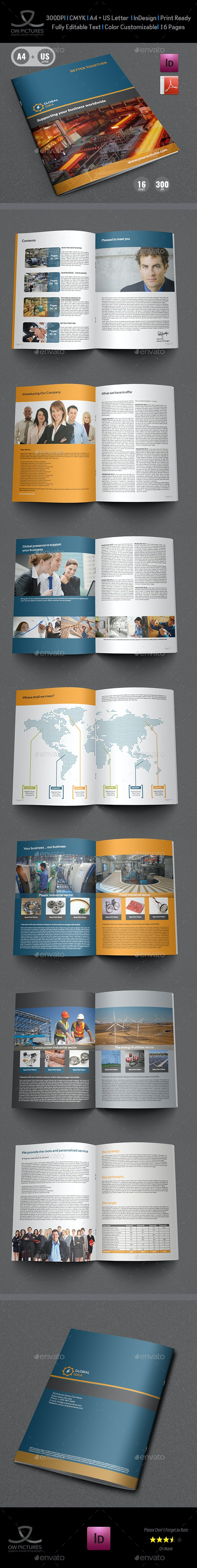 Company Profile Brochure Template Vol.2 -16 Pages - Corporate Brochures