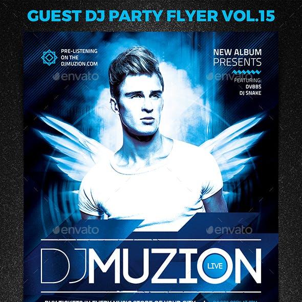 Guest DJ Party Flyer vol.15