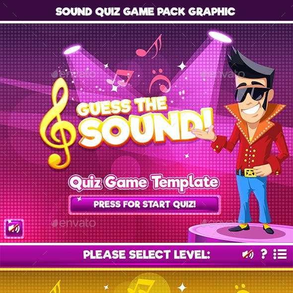 Guess the Sound Quiz Game Template