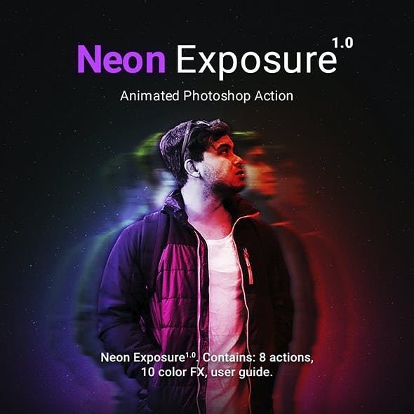 Neon Exposure - Animated Photoshop Action