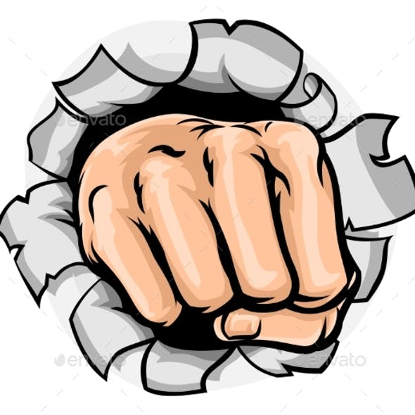 Fist Hand Punching Hole