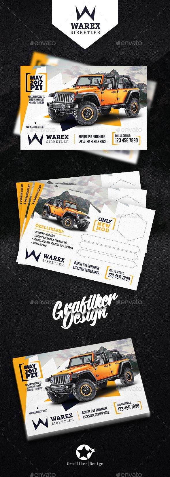Car Sales Postcard Templates - Cards & Invites Print Templates