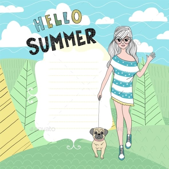 Summer Vector Card