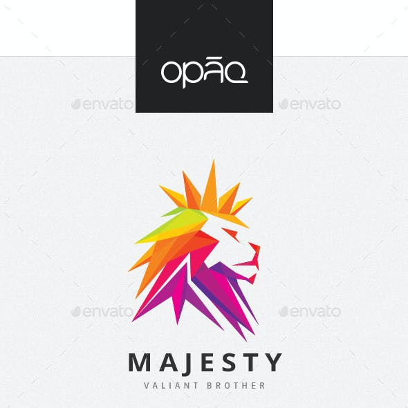 Majesty Royal Lion Logo