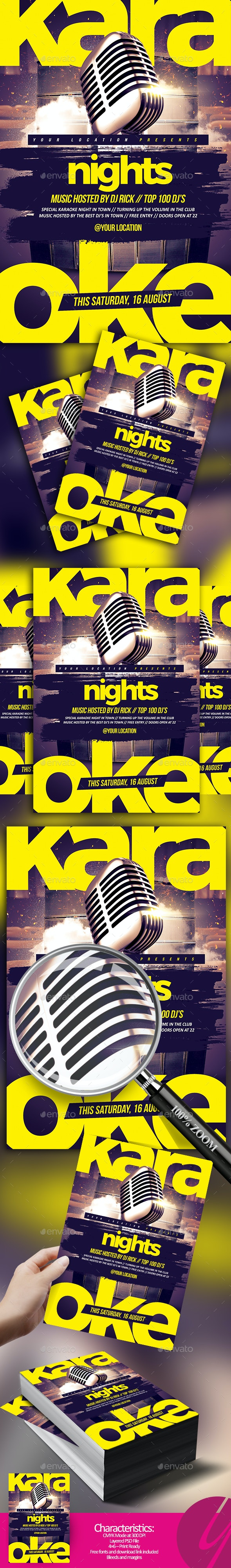 Karaoke Nights Flyer - Clubs & Parties Events
