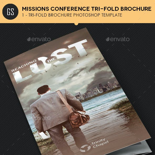 Missions Conference Tri-Fold Brochure Template