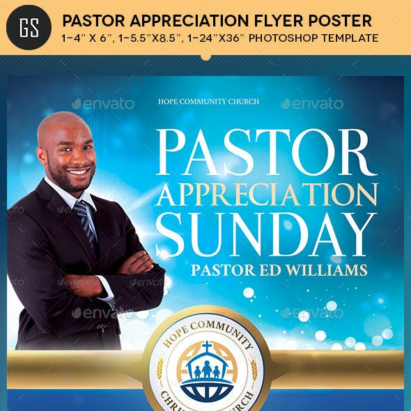 Community Pastor Appreciation Flyer Poster Template