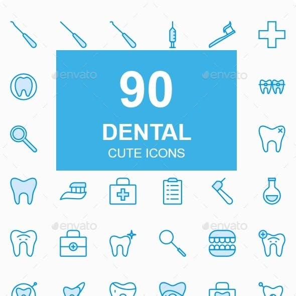 Dental Cute Style icons