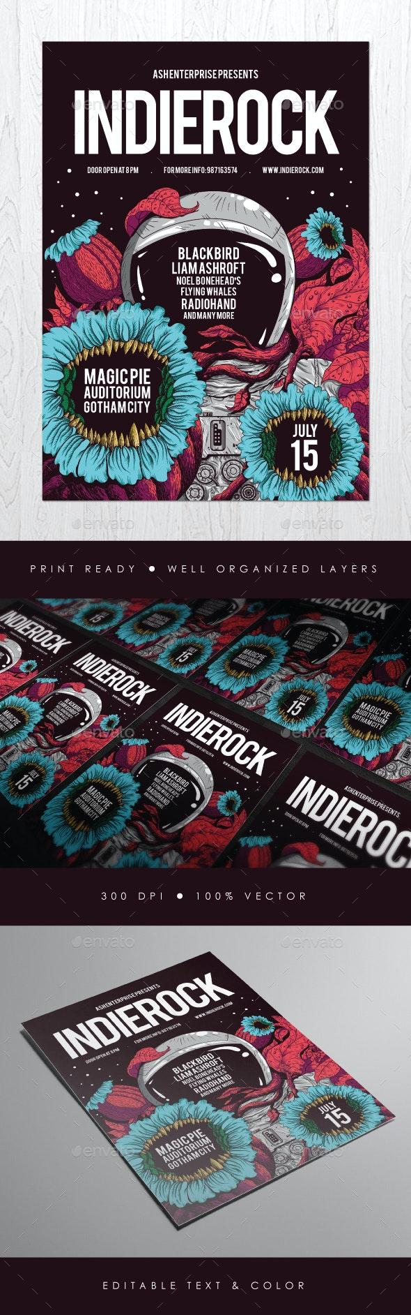 Indie Rock Vol. 4 Flyer - Concerts Events