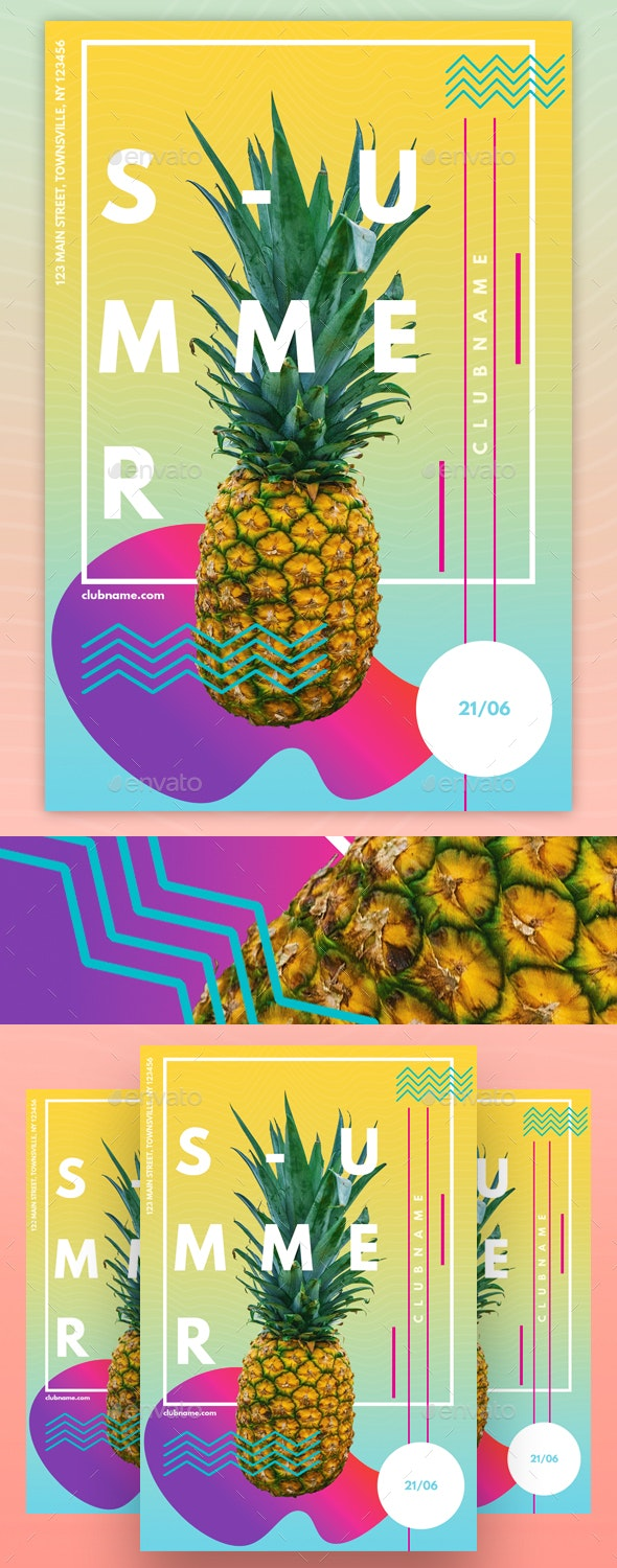 Modern Abstract Party Flyer Template - Events Flyers