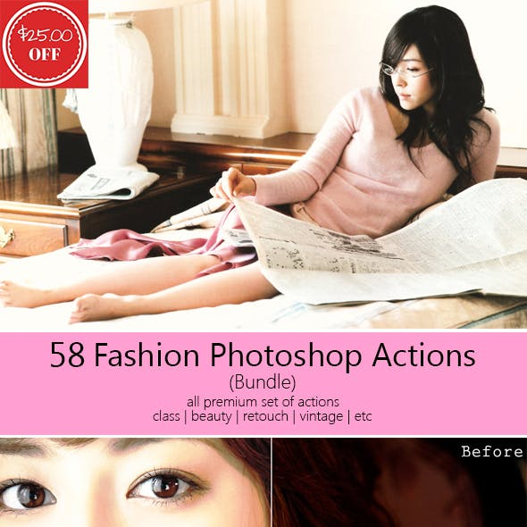 58 Fashion Photoshop Actions (Bundle)