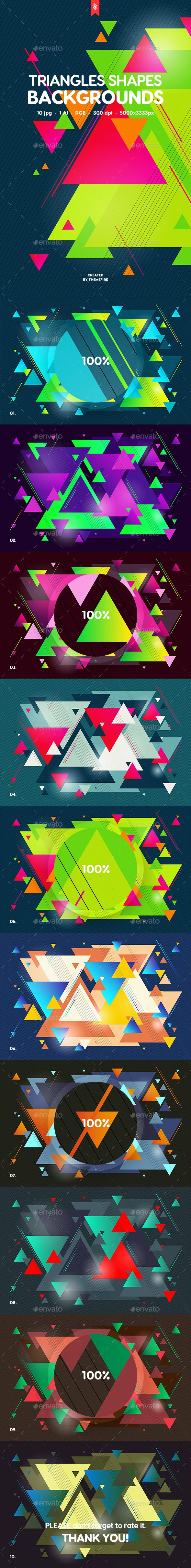 Triangles Shapes Backgrounds - Abstract Backgrounds