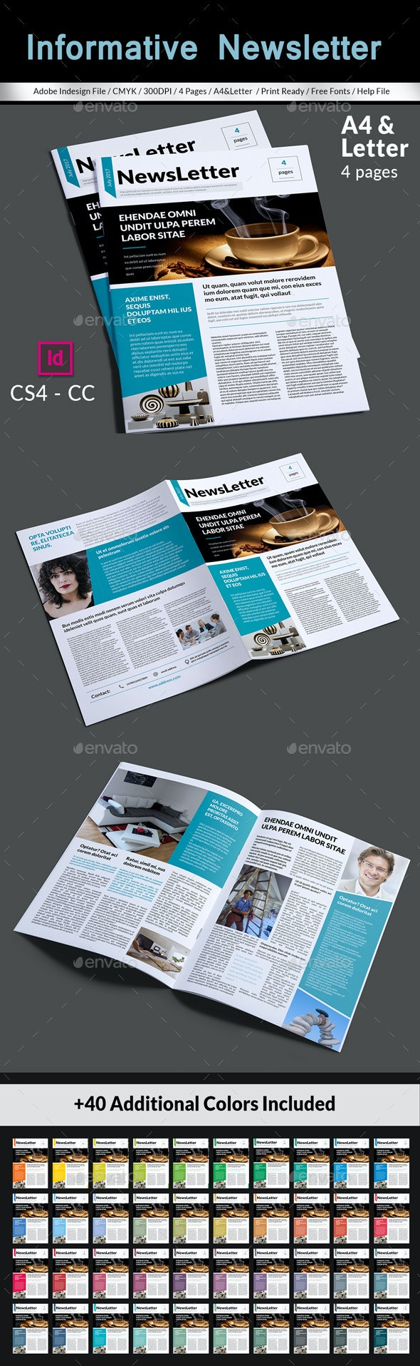 Informative Newsletter Template By Magic Reflection