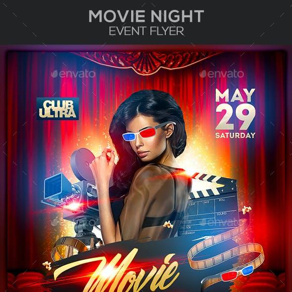 Movie Night Event Flyer