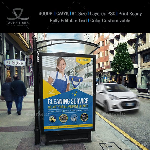 Cleaning Services Poster Template Vol.4
