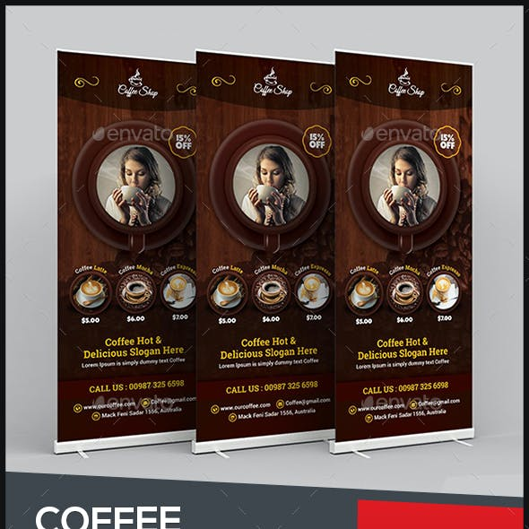 Coffee Roll-Up Banner