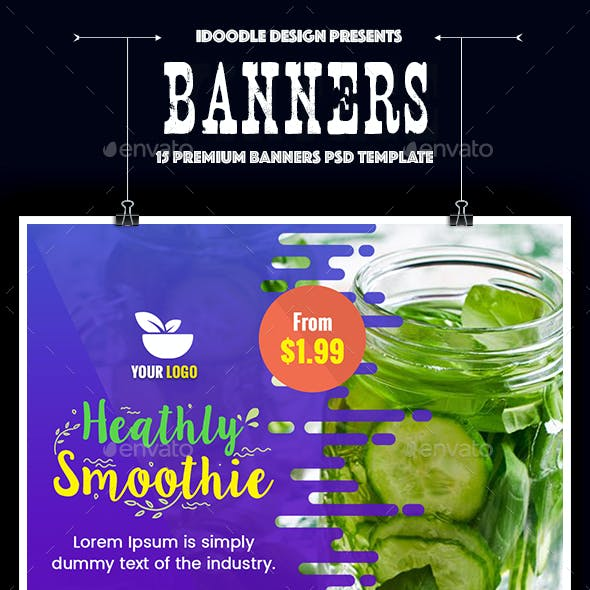 Juice Banners Banners & Ad Templates from GraphicRiver