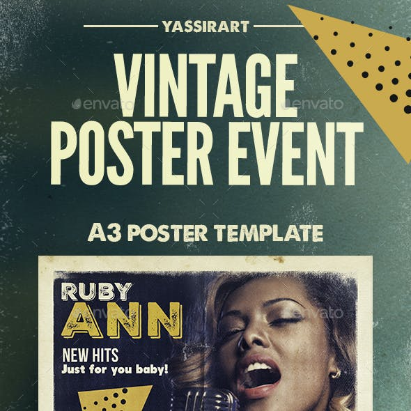 Vintage Poster Music Event A3