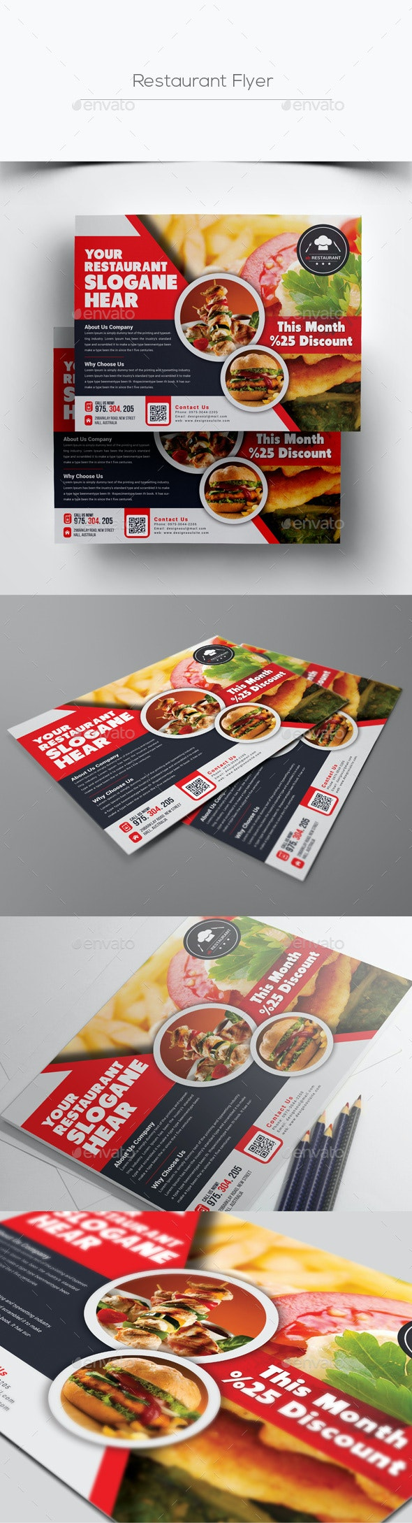 Horizontal Restaurant Flyer - Restaurant Flyers