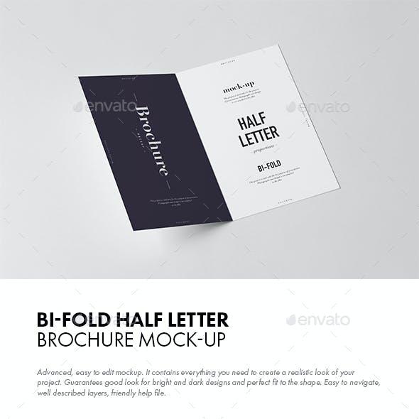 Bi-Fold Half Letter Brochure Mock-up