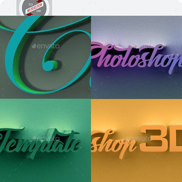 3D Photoshop Template 2