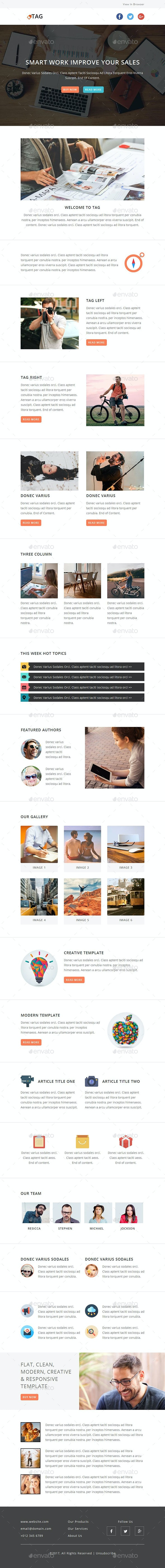 TAG - E-Newsletter PSD Template