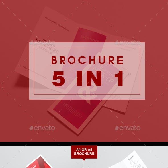 Brochure Mockup 5 in1