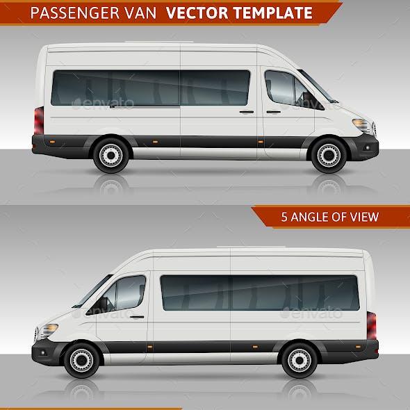 Passenger van Vector template
