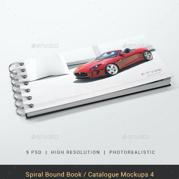 Spiral Bound Book / Catalogue Mockups 4