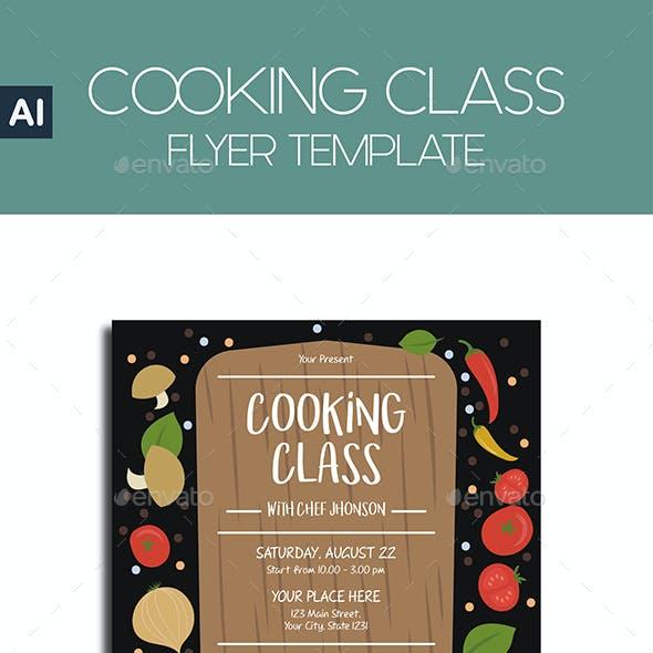 COOKING CLASS Flyer Template