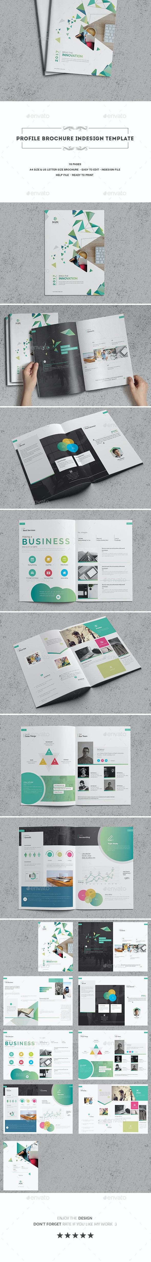 Profile Brochure Indesign Template - Corporate Brochures