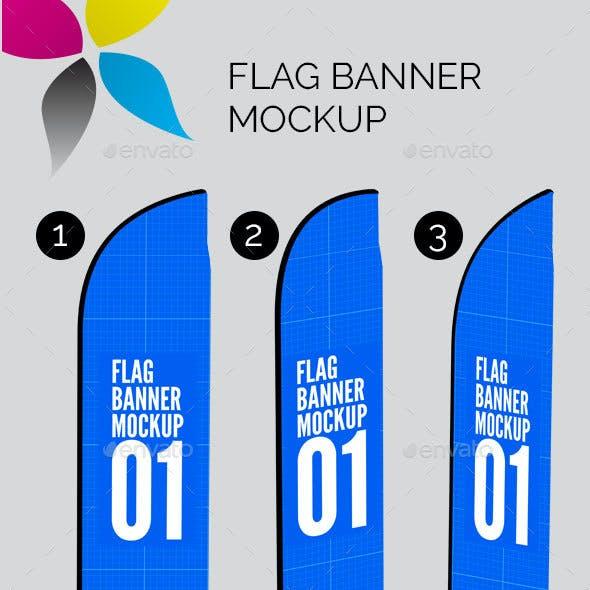 Flag Banner Mockup