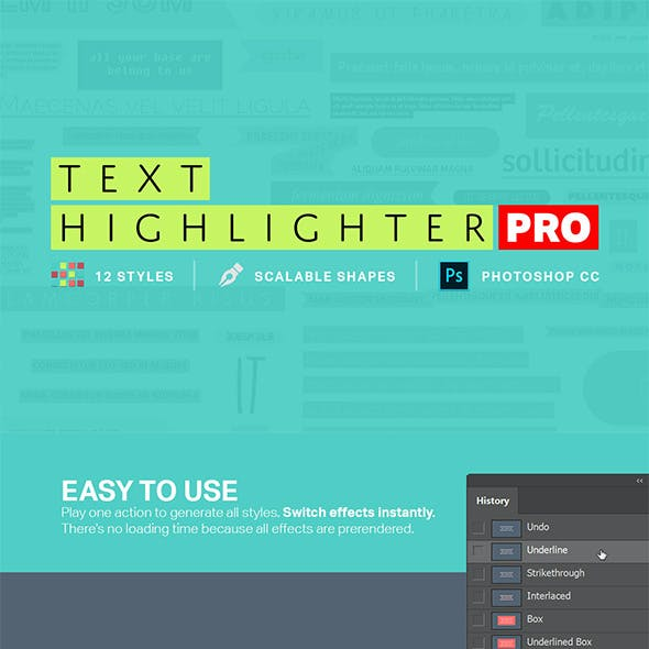 Text Highlighter Photoshop Actions