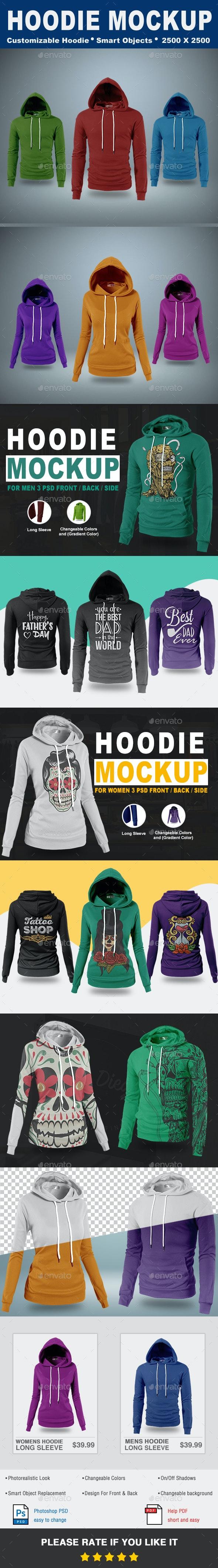 Hoodie Mock-Up Vol.1 - T-shirts Apparel
