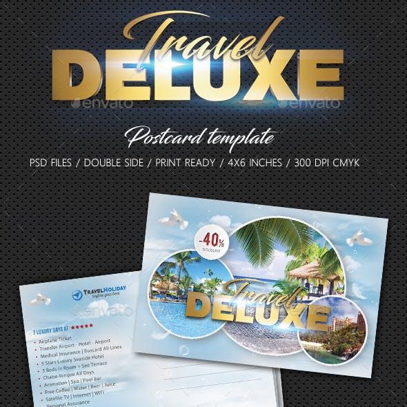 Travel Tour Postcard Template