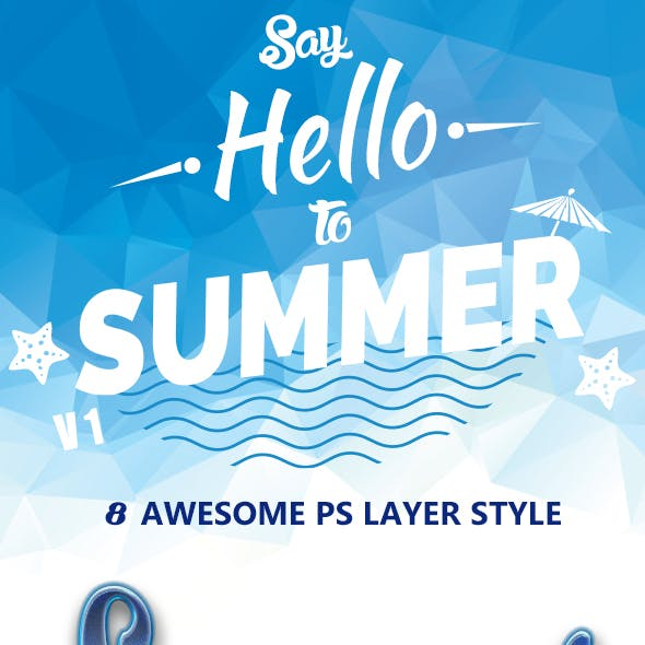 Summer Text Layer Style 1