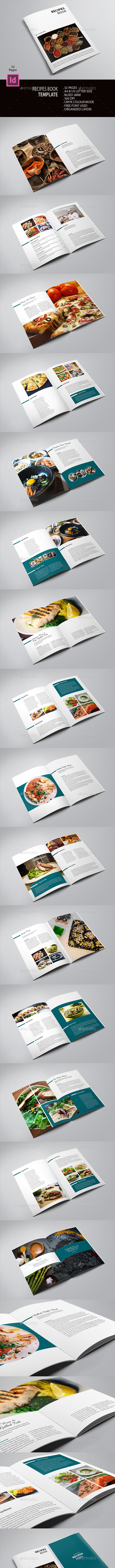 Recipe Book Template - Brochures Print Templates