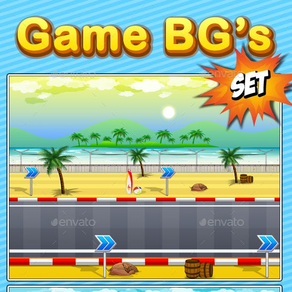 8 Different Game Backgrounds