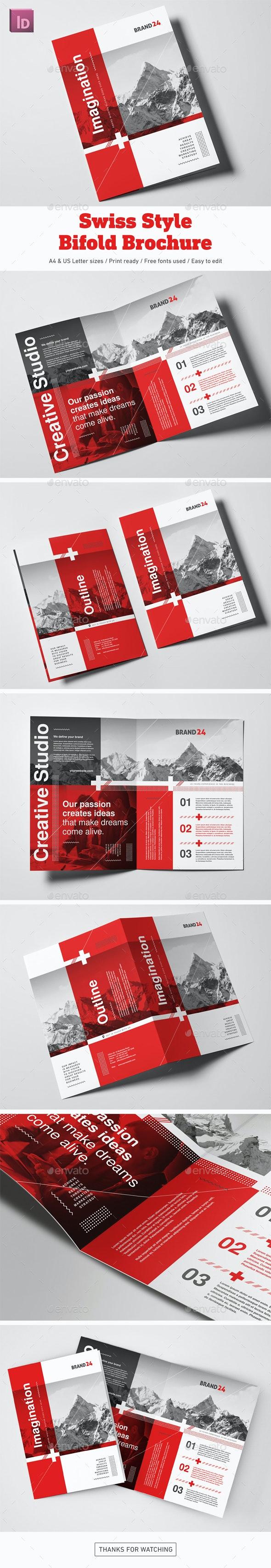 Swiss Style Bifold Brochure - Corporate Brochures