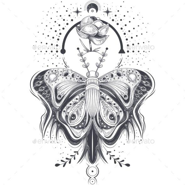 Vector Illustration of Tattoo Art