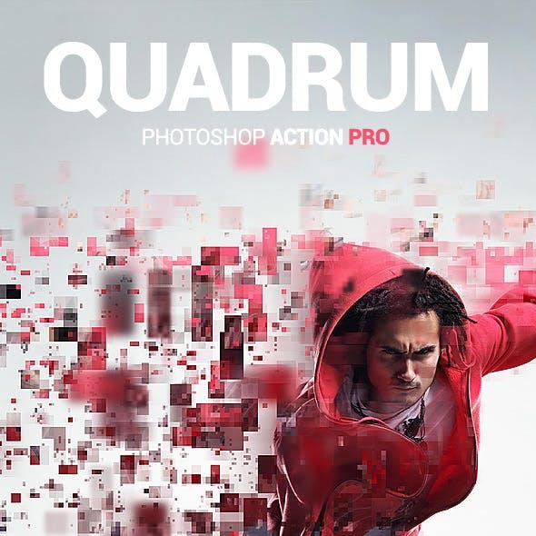 Squares Dispersion - Quadrum - Photoshop Action