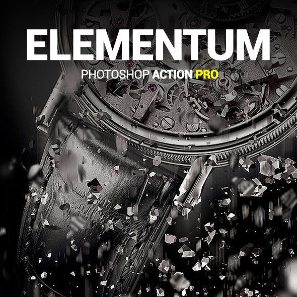 Splinters Dispersion - Elementum - Photoshop Action