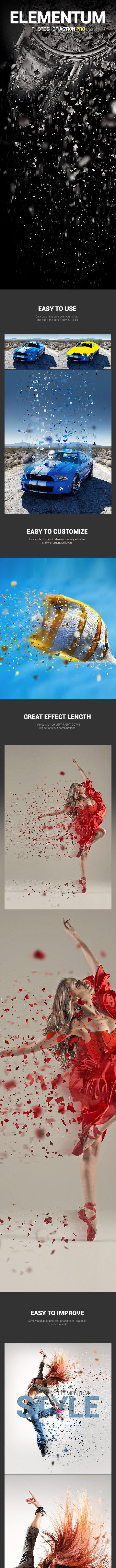 Splinters Dispersion - Elementum - Photoshop Action - Photo Effects Actions