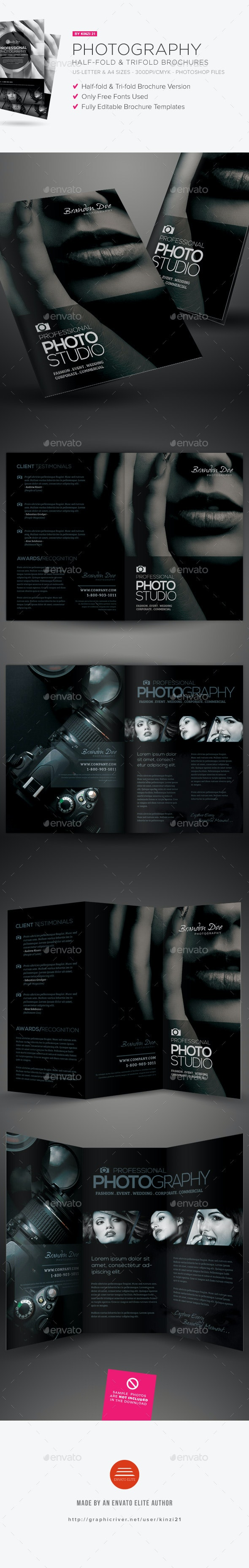 Photography Half-Fold and Trifold Brochures - Corporate Brochures