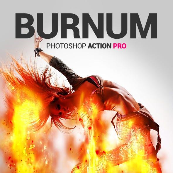 Burning Man - Burnum - Photoshop Action