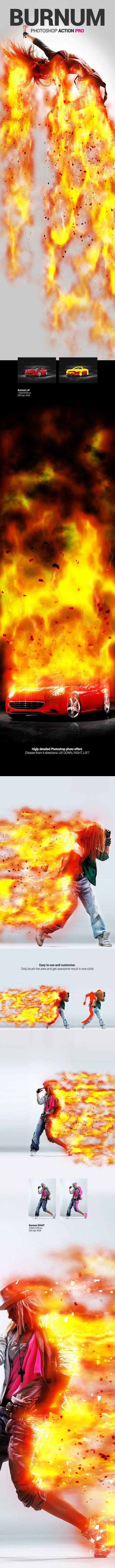 Burning Man - Burnum - Photoshop Action - Photo Effects Actions